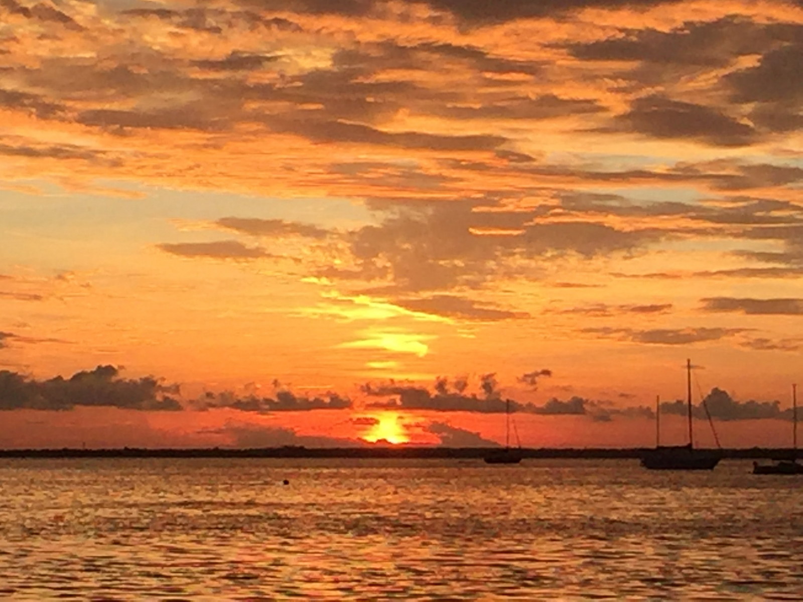 Sunset over Charlotte Harbor