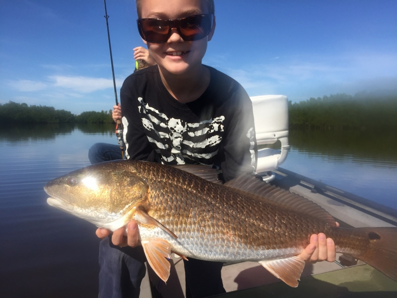 Redfish caught on light tackle