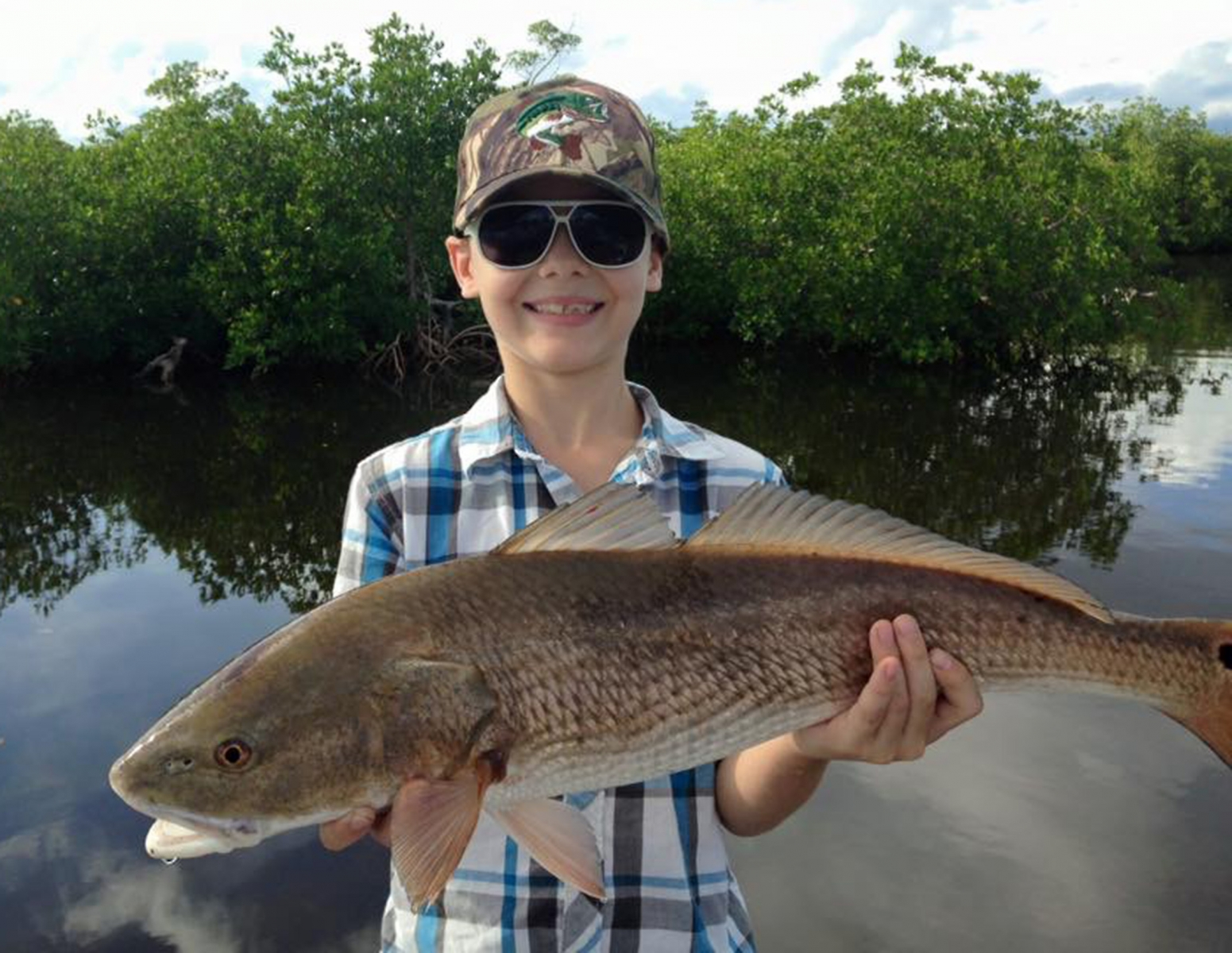 Kid Redfish Shallow Water